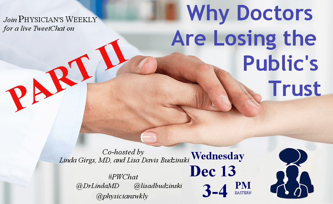 #PWChat – Why Doctors Are Losing the Public's Trust