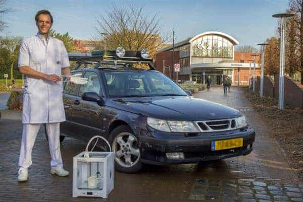 Dutch physician Lars Brouwers driving to Africa to deliver 3D printed hands