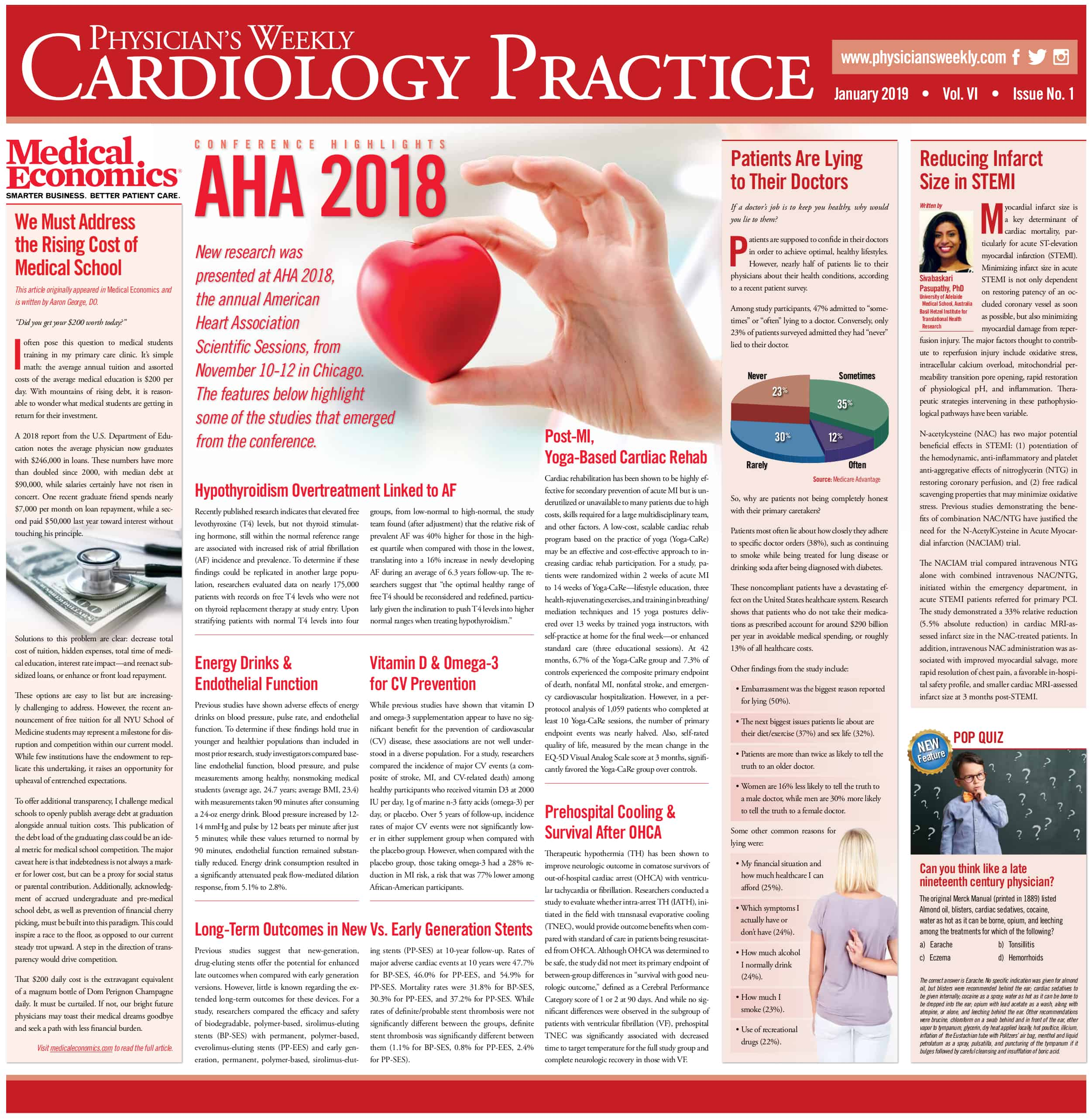 Cardiology Practice: January 2019