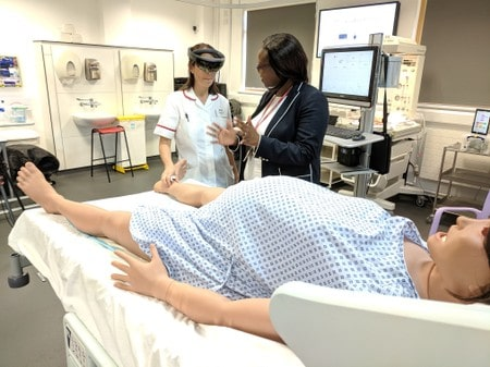Midwifery students use augmented technology to improve clinical skills