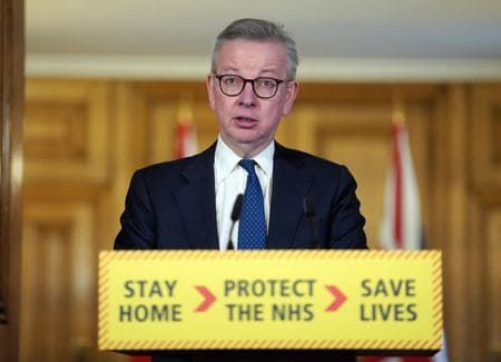 Social distancing slowing UK coronavirus spread, but can't relax now: Gove