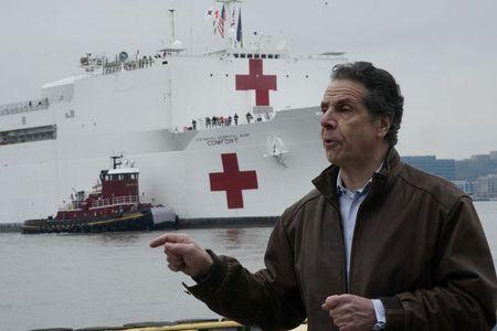 New York Governor says coronavirus crisis may have hit plateau