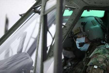 Messages from above: Colombia's army takes to the skies to enforce quarantine