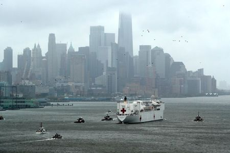 Little-used Navy hospital ship Comfort leaves New York after treating COVID-19 patients