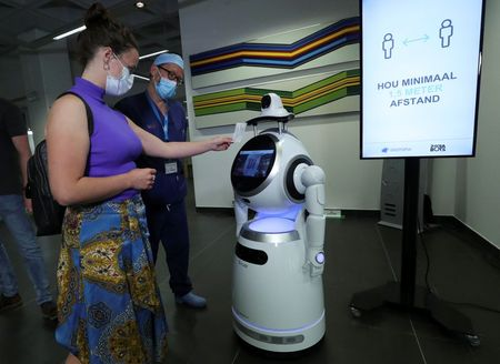 COVID-19 robot patrol rolled out in Belgian hospitals