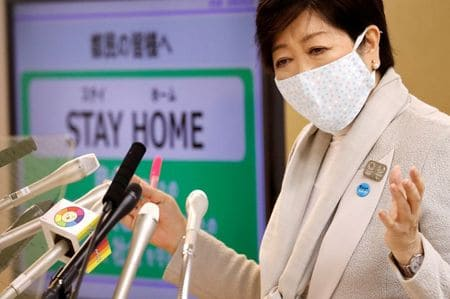 Tokyo governor: Decrease in commuters falls short of target needed to control coronavirus