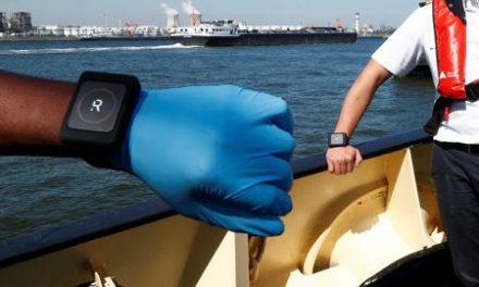 Antwerp port trials wristbands for coronavirus social distancing