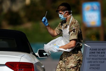England's COVID-19 hospital death toll rises by 587 to 17,373