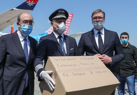 Serbia sends four planes carrying medical equipment to Italy